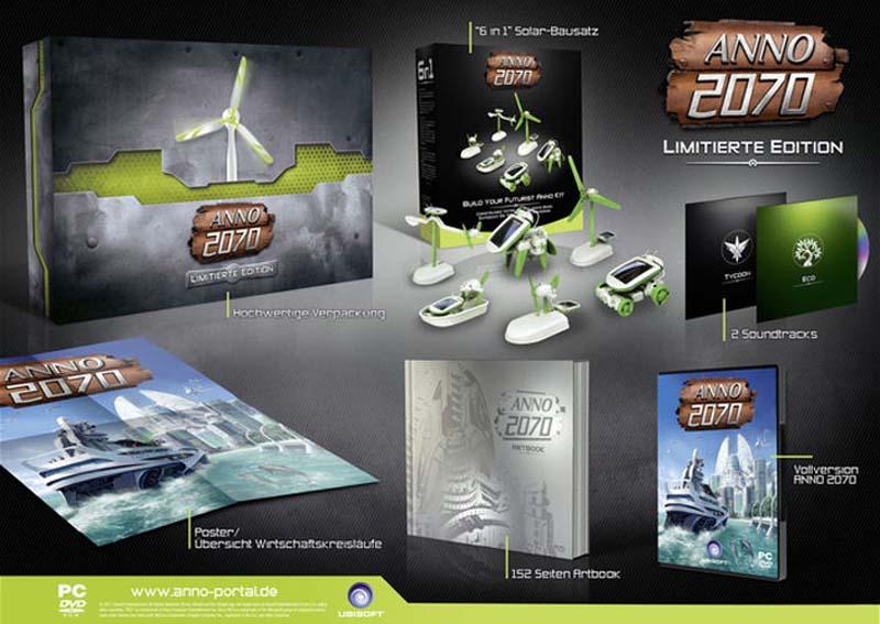 Anno 2070 - Lieferumfang - Collectors Edition